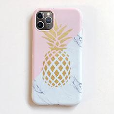 Custodia Silicone Gel Morbida Frutta Cover per Apple iPhone 11 Pro Max Rosa