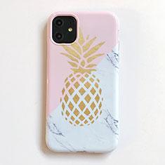 Custodia Silicone Gel Morbida Frutta Cover per Apple iPhone 11 Rosa