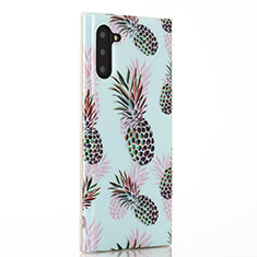 Custodia Silicone Gel Morbida Frutta Cover S01 per Samsung Galaxy Note 10 5G Ciano