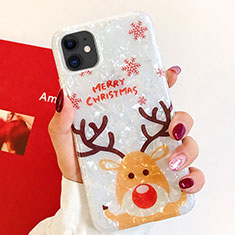 Custodia Silicone Gel Morbida Natale Cover per Apple iPhone 11 Multicolore
