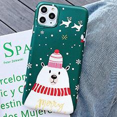 Custodia Silicone Gel Morbida Natale Cover S01 per Apple iPhone 11 Pro Max Verde