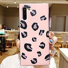 Custodia Silicone Laterale Fantasia Modello Specchio Cover P01 per Samsung Galaxy Note 10 5G Rosa