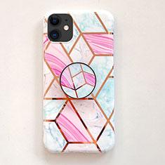 Custodia Silicone Laterale Fantasia Modello Specchio Cover per Apple iPhone 11 Rosa