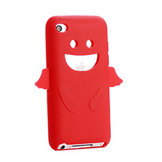 Custodia Silicone Morbida Angelo per Apple iPod Touch 4 Rosso