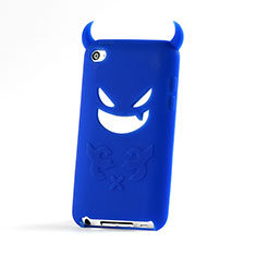 Custodia Silicone Morbida Diavolo per Apple iPod Touch 4 Blu
