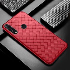 Custodia Silicone Morbida In Pelle Cover A01 per Huawei Enjoy 9s Rosso