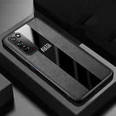 Custodia Silicone Morbida In Pelle Cover H01 per Huawei Honor X10 5G Nero