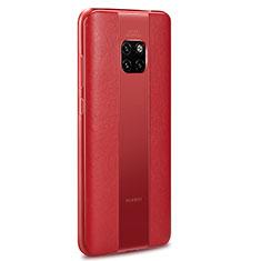 Custodia Silicone Morbida In Pelle Cover H01 per Huawei Mate 20 RS Rosso