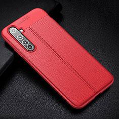 Custodia Silicone Morbida In Pelle Cover H01 per Realme X50 Pro 5G Rosso
