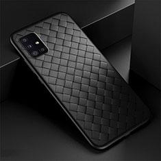 Custodia Silicone Morbida In Pelle Cover H01 per Samsung Galaxy A51 5G Nero