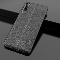 Custodia Silicone Morbida In Pelle Cover H01 per Samsung Galaxy A70 Nero