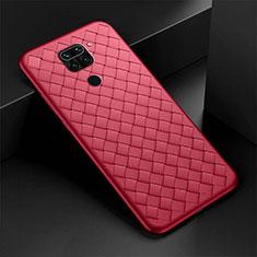 Custodia Silicone Morbida In Pelle Cover H01 per Xiaomi Redmi Note 9 Rosso