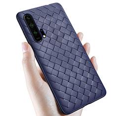 Custodia Silicone Morbida In Pelle Cover H02 per Huawei Honor 20 Pro Blu