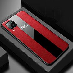 Custodia Silicone Morbida In Pelle Cover H02 per Huawei P40 Lite Rosso