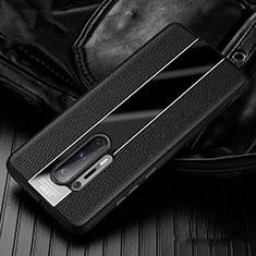 Custodia Silicone Morbida In Pelle Cover H02 per OnePlus 8 Pro Nero