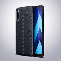 Custodia Silicone Morbida In Pelle Cover H02 per Samsung Galaxy A70 Blu