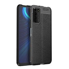 Custodia Silicone Morbida In Pelle Cover H03 per Huawei Honor X10 5G Nero