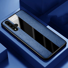 Custodia Silicone Morbida In Pelle Cover H03 per Huawei Nova 5T Blu