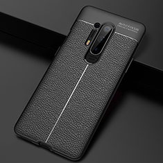 Custodia Silicone Morbida In Pelle Cover H03 per OnePlus 8 Pro Nero