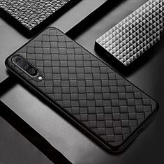 Custodia Silicone Morbida In Pelle Cover H03 per Samsung Galaxy A70 Nero