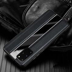 Custodia Silicone Morbida In Pelle Cover H03 per Samsung Galaxy S20 Plus 5G Nero