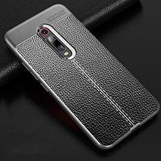 Custodia Silicone Morbida In Pelle Cover H03 per Xiaomi Mi 9T Grigio