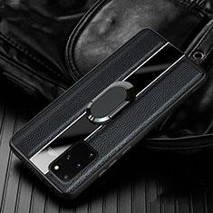 Custodia Silicone Morbida In Pelle Cover H04 per Samsung Galaxy S20 Plus 5G Nero