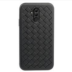 Custodia Silicone Morbida In Pelle Cover H05 per Huawei Mate 20 Lite Nero