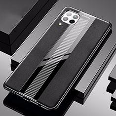 Custodia Silicone Morbida In Pelle Cover H05 per Huawei P40 Lite Nero
