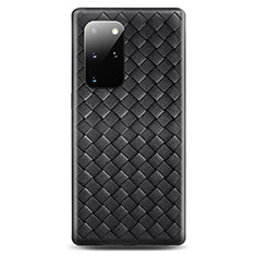 Custodia Silicone Morbida In Pelle Cover H05 per Samsung Galaxy S20 Plus Nero