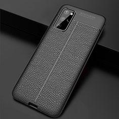 Custodia Silicone Morbida In Pelle Cover H06 per Samsung Galaxy S20 Plus 5G Nero