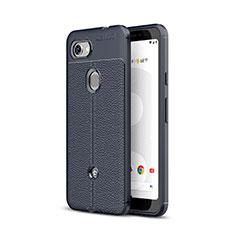 Custodia Silicone Morbida In Pelle Cover per Google Pixel 3a Blu