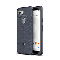 Custodia Silicone Morbida In Pelle Cover per Google Pixel 3a XL Blu