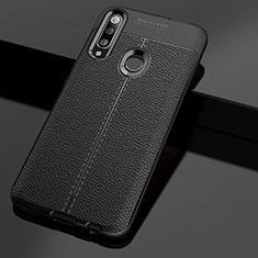 Custodia Silicone Morbida In Pelle Cover per Huawei Enjoy 10 Plus Nero