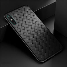 Custodia Silicone Morbida In Pelle Cover per Huawei Enjoy 10e Nero