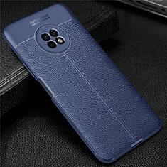 Custodia Silicone Morbida In Pelle Cover per Huawei Enjoy 20 Plus 5G Blu