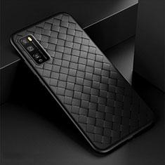Custodia Silicone Morbida In Pelle Cover per Huawei Enjoy 20 Pro 5G Nero