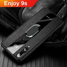 Custodia Silicone Morbida In Pelle Cover per Huawei Enjoy 9s Nero