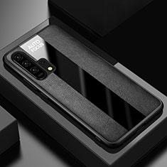 Custodia Silicone Morbida In Pelle Cover per Huawei Honor 20 Pro Nero