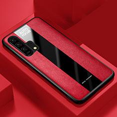 Custodia Silicone Morbida In Pelle Cover per Huawei Honor 20 Pro Rosso