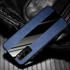 Custodia Silicone Morbida In Pelle Cover per Huawei Honor 30 Pro Blu