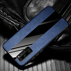 Custodia Silicone Morbida In Pelle Cover per Huawei Honor 30 Pro+ Plus Blu