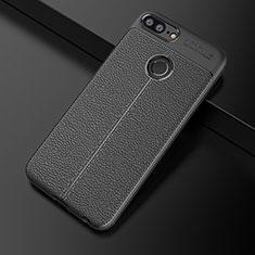 Custodia Silicone Morbida In Pelle Cover per Huawei Honor 9 Lite Nero