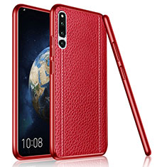Custodia Silicone Morbida In Pelle Cover per Huawei Honor Magic 2 Rosso