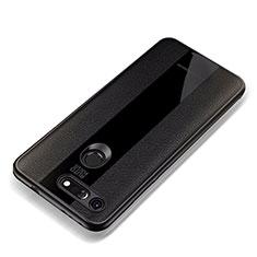 Custodia Silicone Morbida In Pelle Cover per Huawei Honor View 20 Nero