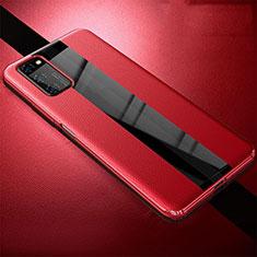 Custodia Silicone Morbida In Pelle Cover per Huawei Honor View 30 Pro 5G Rosso