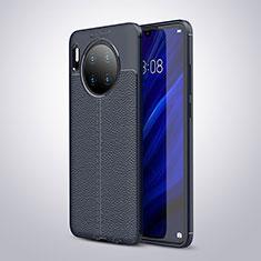 Custodia Silicone Morbida In Pelle Cover per Huawei Mate 30 5G Blu