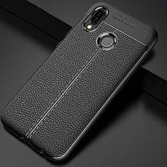 Custodia Silicone Morbida In Pelle Cover per Huawei Nova 3i Nero