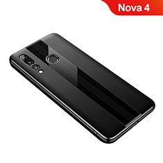 Custodia Silicone Morbida In Pelle Cover per Huawei Nova 4 Nero