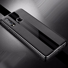 Custodia Silicone Morbida In Pelle Cover per Huawei Nova 4e Nero